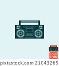 Boombox icon isolated 21043265