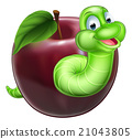 Worm and Apple 21043805