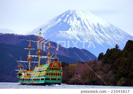 箱根 芦之湖 富士山 21043817