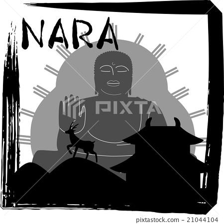 奈良剪影角度罗马字符号 21044104