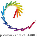 Colored Pencils Spiral Golden Cut 21044803