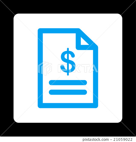 Invoice Rounded Square Button 21059022