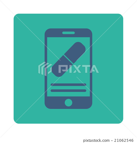 Medication Online Information Rounded Square Button 21062546