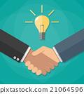 vector hand handshake 21064596