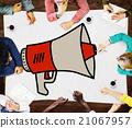 Announcement Megaphone Proclaim Message Illustration Concept 21067957