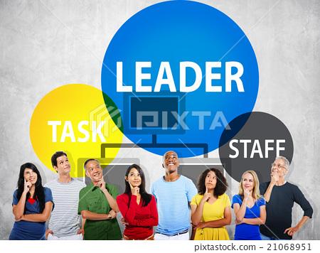 leader, looking up, people 21068951