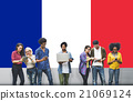 France Country Flag Nationality Culture Liberty Concept 21069124