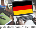 Germany Country Flag Nationality Culture Liberty Concept 21070388
