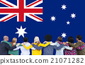 Australia Flag Country Nationality Liberty Concept 21071282