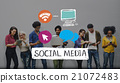 Social Media Networking Connection Merketing Concept 21072483
