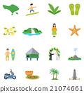 Set Of Flat Icons About Bali 21074661
