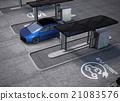 電動汽車 太陽能板 充電器 21083576
