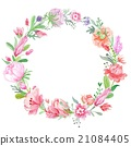 Romantic Meadow Floral Wreath 21084405