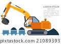 excavator machine vector 21089393