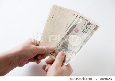 一万日元钞票白背 21089623