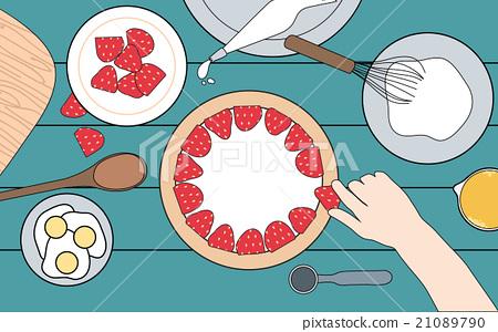 Making cake, top view 21089790
