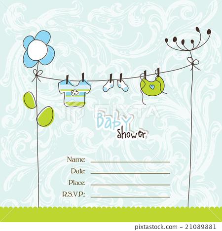 Baby shower card 21089881
