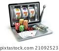 Casino online concept, gambling.  slot machine 21092523