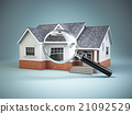 House and loupe magnifying glass. Real estate 21092529