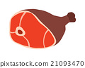 Pork leg with bone vector illustration. 21093470