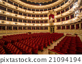 Theater,  interior view, arena and balconies 21094194