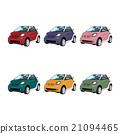 Set six small city car colors 21094465