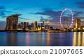 Singapore skyline at Marina Bay. 21097665