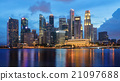 Singapore business district skyline 21097688