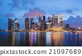 Singapore skyline at Marina bay. 21097689