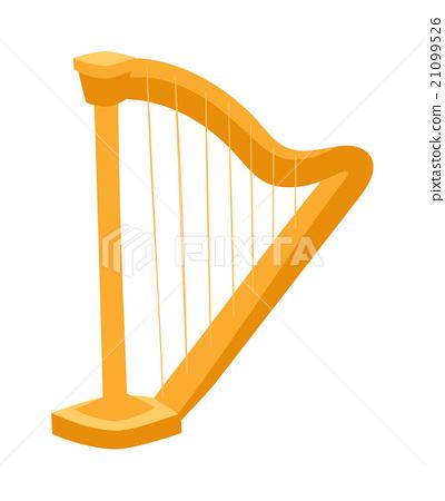 Harp vector illustration 21099526