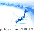日本地圖 電子 數位 21100179