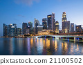 Colorful Singapore business district skyline. 21100502