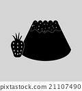 Flat in black and white Bun with strawberri 21107490
