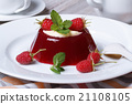 Delicious jelly with fresh raspberries and mint 21108105
