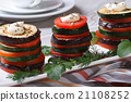 zucchini, tomatoes and aubergines baked with dill 21108252