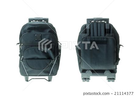 New black student bag isolated on white 21114377