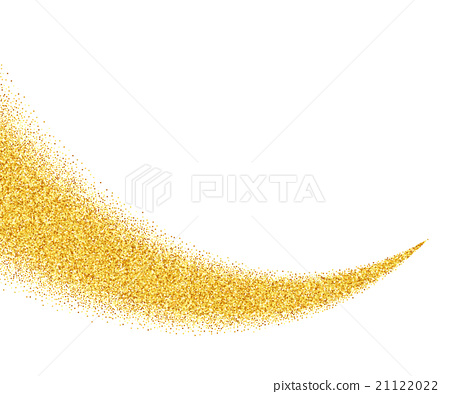abstract vector gold glitter star wave background stock