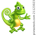 Cartoon Chameleon 21123023