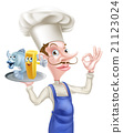 Cartoon Fish and Chips Chef 21123024