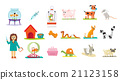 Animal Veterinary Care Flat Isolated Vector 21123158