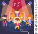 Kids Rock Band, Vector Illustration 21123227