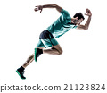 man runner jogger running  isolated 21123824