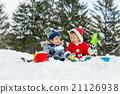 男孩 男孩們 下雪 21126938