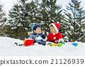 男孩 男孩們 雪 21126939