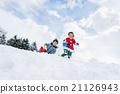 boy, snowy, playing 21126943