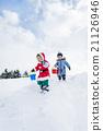 奔跑 跑步 耶誕節 21126946