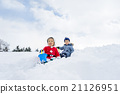 boy, snowy, playing in the snow 21126951