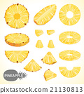 Set of pineapple in various styles vector format 21130813