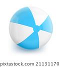 Beach Ball with Blue Stripes 21131170