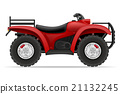 atv motorcycle on four wheels off roads vector 21132245